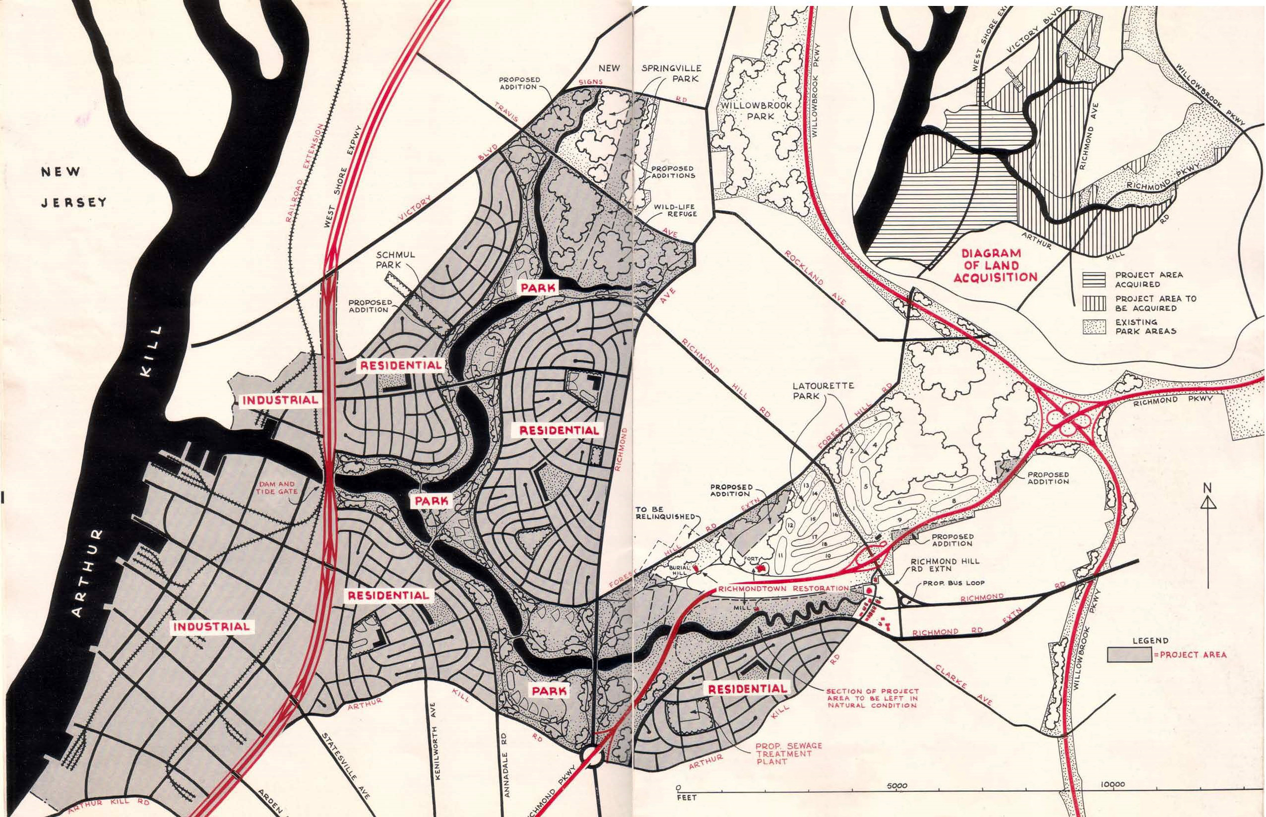 Fresh Kills Landfill 1951 Map